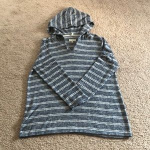 Lou and Grey Brushline Striped Hoodie Sweater